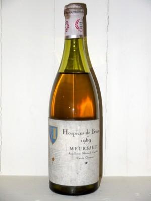 Vins grands crus Bourgogne Meursault 1969 Hospices de Beaune Cuvée Goureau