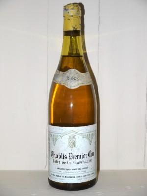 """Vins grands crus Chablis Chablis 1er Cru 1983 """"Côtes de la Fourchaume"""" Domaine Philippon"""