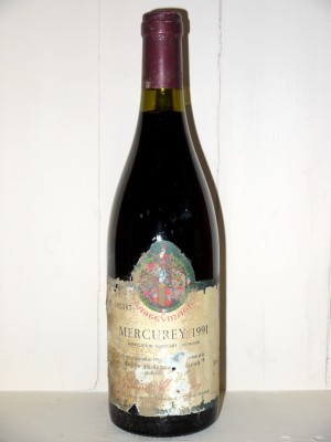 Grands crus Bourgogne Mercurey 1991 André Montessuy