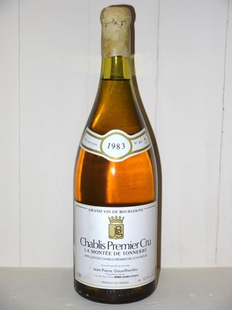 Magnum Chablis 1er Cru Montée de Tonnerre 1983 Tête de Cuvée Jp Gouailhardou