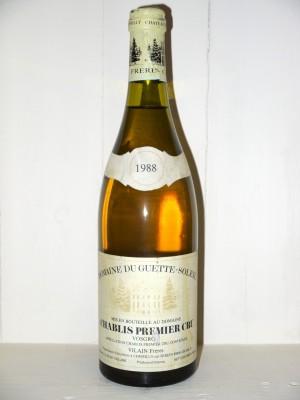 Grands vins Chablis Chablis1er Cru Vosgros 1988 Domaine du Guette-Soleil