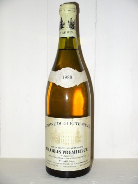 Chablis1er Cru Vosgros 1988 Domaine du Guette-Soleil