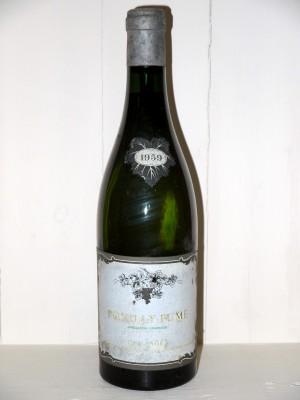 Vins anciens Loire Pouilly Fumé 1959 Guy Saget