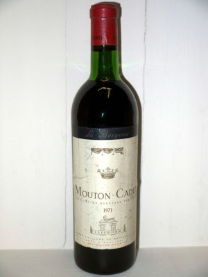 Grands crus Autres appellations de Bordeaux Mouton Cadet 1971