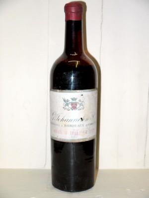 Grands vins Médoc Château Bellevue 1949