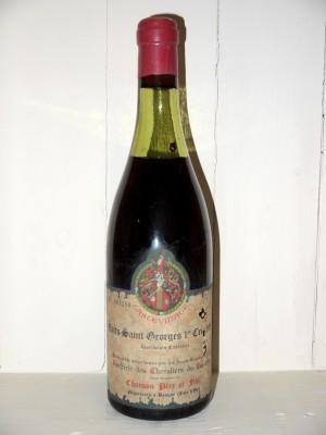 Nuits-Saint-Georges 1er Cru 1957 Confrérie des Chevaliers du Tastevin Chanson Père et fils