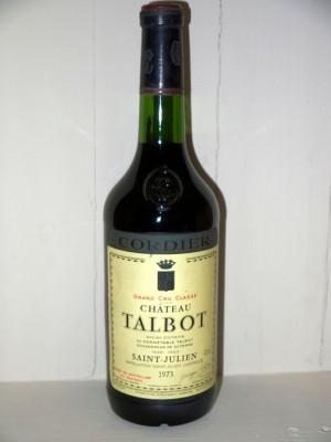 Grands vins Saint-Julien Château Talbot 1973