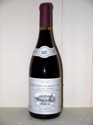 """Vins grands crus Nuits-Saint-Georges Nuits-Saint-Georges 1er Cru """"Clos des Corvés"""" 1986 Maison Paul Reitz"""