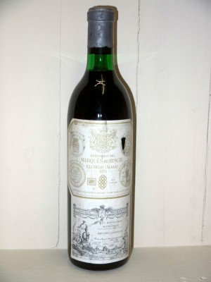 Vins de collection Étranger Marqués de Riscal Reserva 1971
