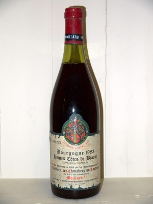 Vins de collection Beaune - Savigny-les-Beaune Bourgogne Hautes Côtes de Beaune 1983 Maison Moillard