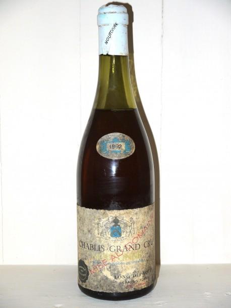 Chablis Grand Cru Moutonne 1962 Domaine Long Depaquit