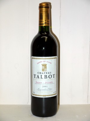 Vins anciens Saint-Julien Château Talbot 2001