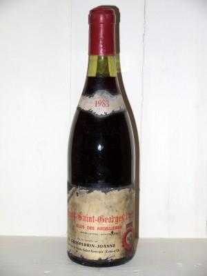 """Grands crus Nuits-Saint-Georges Nuits-Saint-Georges """"Clos des Argillières"""" 1983 Domaine Grosperrin-Joanne"""