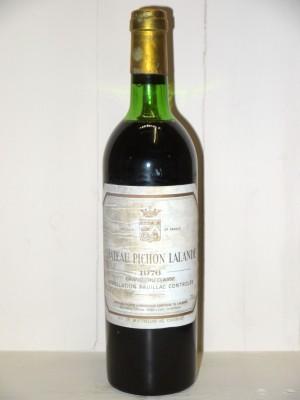 Vins anciens Pauillac Château Pichon Longueville Comtesse de Lalande 1976