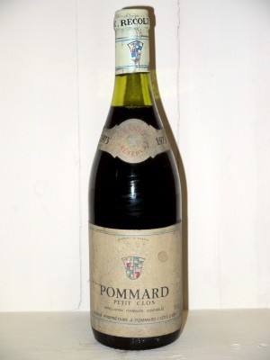 "Pommard 1973 ""Petit Clos"" Grande Reserve Domaine Anjou"