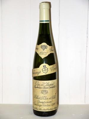 Vins grands crus Alsace Gewurztraminer 1985 Vendange Tardive Domaine Albert Klur