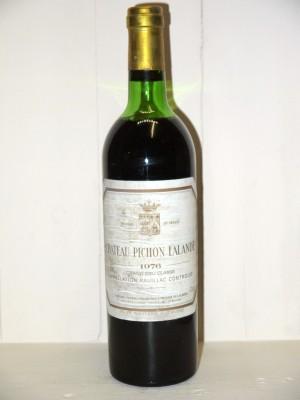 Vins grands crus Pauillac Château Pichon Longueville Comtesse de Lalande 1976