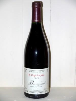 """Grands crus Loire Bourgeuil 1999 """"les vingt lieux dits"""" Domaine du Beal Air"""