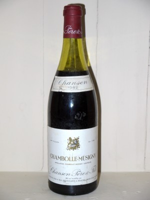 Vins grands crus Chambolle-Musigny Chambolle-Musigny 1982 Chanson Père et fils