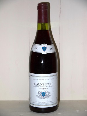 """Beaune 1er Cru """"Les Grèves"""" 1987 Domaine Maillard Père et fils"""