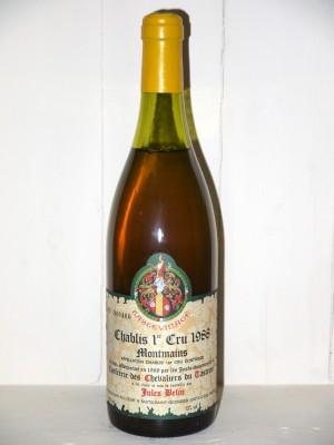 Chablis 1er Cru 1988 Montmains Tastevinage Julles Belin