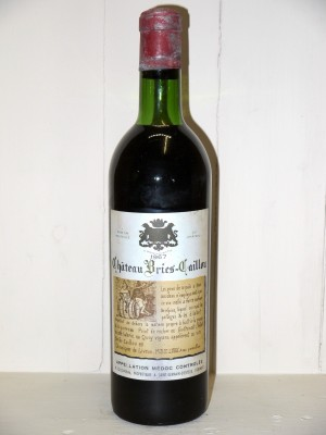 Grands crus Bordeaux Château Bries-Caillou 1967