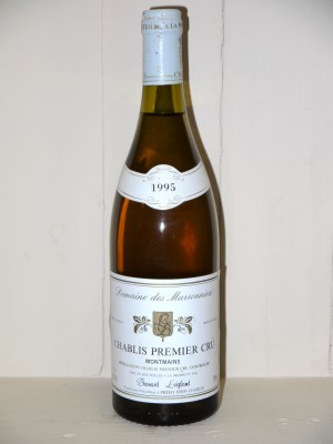 Vins grands crus Chablis Chablis 1995 1er Cru Montmains Domaine des Marronniers