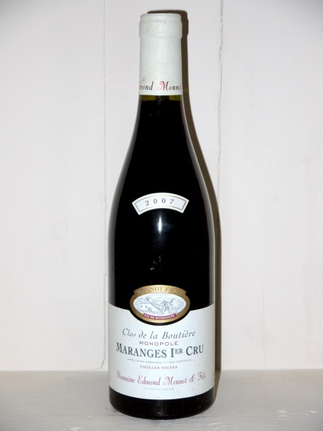 """Maranges 1er Cru 2007 Vieilles Vignes """"Clos de la Boutière"""" Domaine Edmond Monnot & fils"""