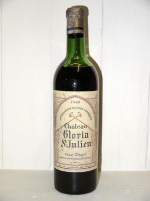 Grands vins Saint-Julien Château Gloria 1969