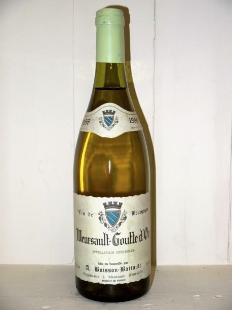 """Meursault """"Goutte d'Or"""" 1988 Domaine Buisson-Battault"""