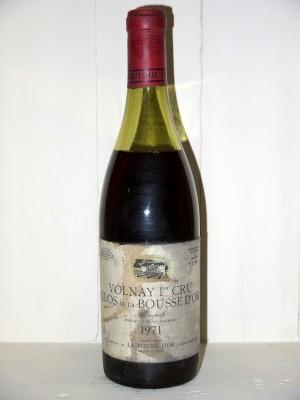 """Vins grands crus Volnay Volnay 1er Cru """"Clos de la Bousse d'Or"""" 1971 Domaine de la Pousse d'Or"""