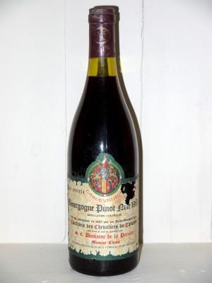 Grands crus Autres appellations de Bourgogne Bourgogne Pinot Noir 1985 Tastevinage Domaine de la Perrière