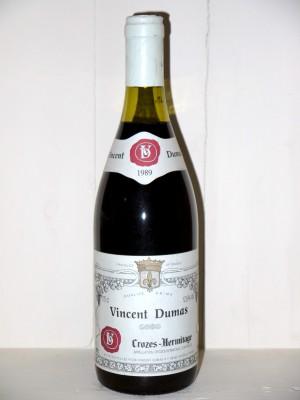 Grands vins Crozes-Hermitage Crozes-Hermitage 1989 Vincent Dumas