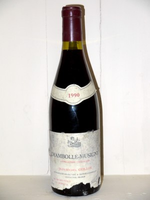 Vins grands crus Bourgogne Chambolle-Musigny 1990 Domaine Jean-Michel Guillon