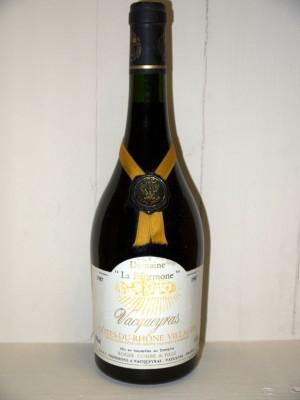 "Grands crus Vacqueyras Domaine La Fourmone Vacqueyras 1987 First place in the ""Concours des grands vins de France"" in 1988"