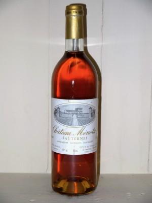 Vins anciens Sauternes - Barsac - Loupiac Château Ménota 1997