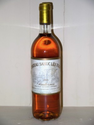 Millesime prestige Sauternes - Barsac - Loupiac Château Sahuc Lès Tour 1985