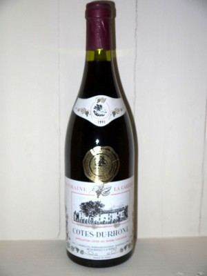 Grands vins Côtes-du-Rhône - Côtes-du-Rhône-Villages Domaine La Garrigue 1991 côtes du Rhône