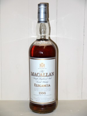 "Whisky ancien The Macallan ""Elegancia"" 1990 en coffret"