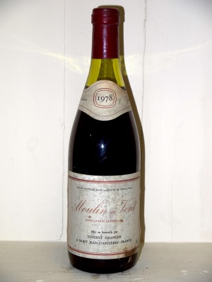 Grands vins Autres appellations de Bourgogne Moulin A Vent 1978 Vincent Granger