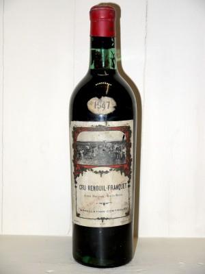 Vins anciens Listrac-Médoc - Moulis-en-Médoc Château Renouil-Franquet 1947