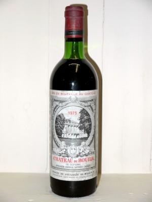 Vins de collection Bordeaux Château du Bouilh 1973