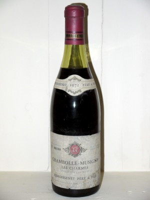 """Chambolle-Musigny """"Les Charmes"""" 1972 Domaine Remoissenet Père et Fils"""