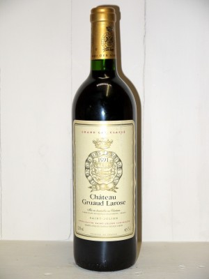 Vins de collection Saint-Julien Château Gruaud Larose 1991