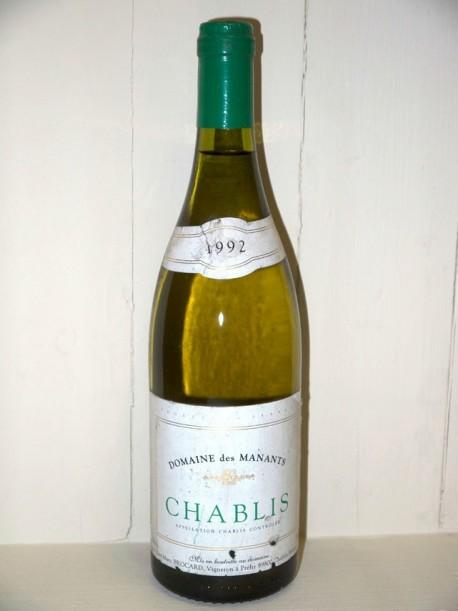 Domaine des manants Chablis 1992 Domaine Jean Marc brocard