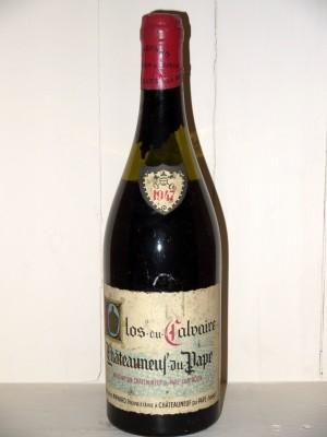 Vins de collection Vallée du Rhône Clos du Calvaire 1947