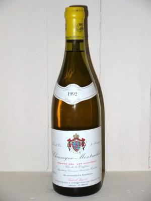 """Vins grands crus Chassagne-Montrachet - Puligny-Montrachet Chassagne-Montrachet 1992 1er Cru """"Les Chaumées"""" Clos de la Truffière Domaine Jouard Gabriel"""