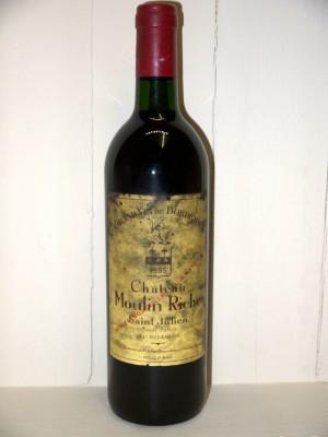 Grands vins Saint-Estèphe Château Moulin Riche 1985