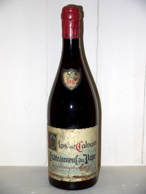 Vins de collection Rhone Valley Clos du Calvaire 1947 Alphonse Mayard