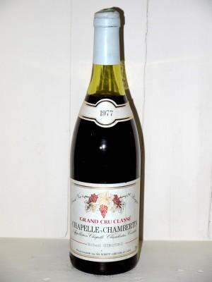 Millesime prestige Gevrey-Chambertin Chapelle-Chambertin 1977 Robert Gibourg